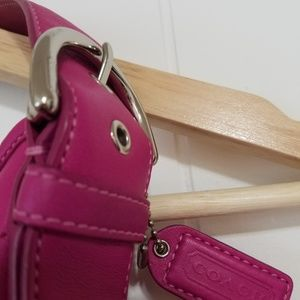 Coach Bags - Coach Pink/Magenta Mini Hobo Purse